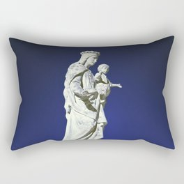 Infrared madonna and child statue Rectangular Pillow
