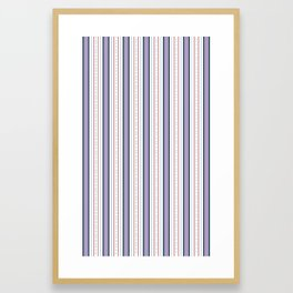 Purple and Red Stripe Framed Art Print