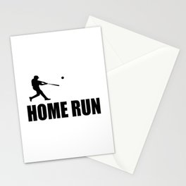 home run baseball sports hobby Stationery Cards