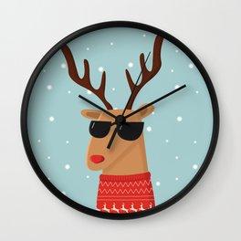 Merry Christmas Dude Wall Clock