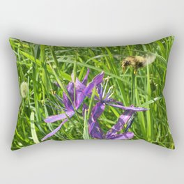 Camus Lily with Bee Rectangular Pillow