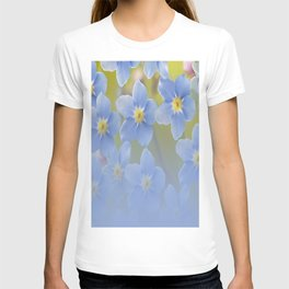 Forget-me-not flowers - summer beauty #society6 #buyart T-shirt