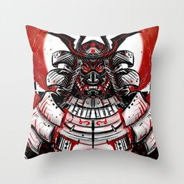 Samurai Artwork Throw Pillow