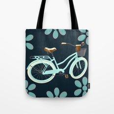My Bike Floral Tote Bag
