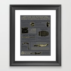 The Hunters Guide to Mystical Artifacts Framed Art Print