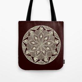 Maroon Mandala Tote Bag