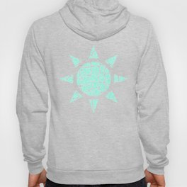 Light Blue Glitter Giraffe Print Hoody