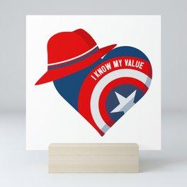 Superhero Heart Agent Mini Art Print