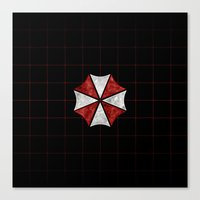 resident evil Canvas Prints featuring Resident Evil Umbrella Corporation  by DavinciArt