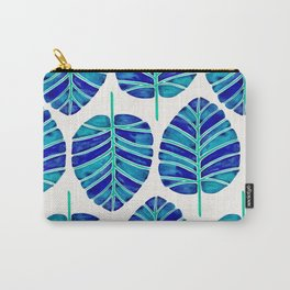 Elephant Ear Alocasia – Blue & Turquoise Palette Carry-All Pouch