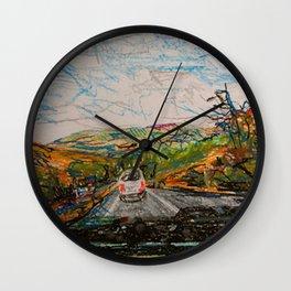 oregon road Wall Clock