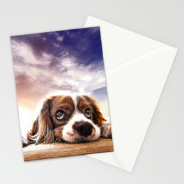 A gorgeous sleepy puppy Stationery Cards