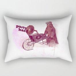 Party Hard Rectangular Pillow