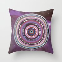battlestar galactica Throw Pillows featuring Galactica by Laurie McCall