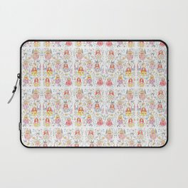Russian doll and flowers pattern Laptop Sleeve