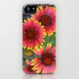 Bright Gerbers iPhone Case