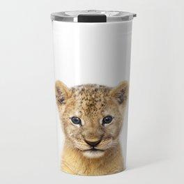 Baby Lion, Baby Animals Art Print By Synplus Travel Mug