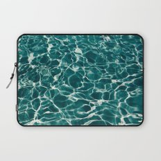 SEA - blue , white ocean , waves , clear , clarity Laptop Sleeve