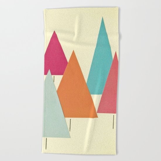 Fir Trees Beach Towel