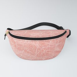 Cotton candy linear motif / seeing through pink glasses Fanny Pack