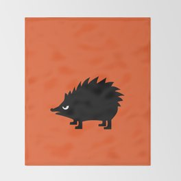 Angry Animals: hedgehog Throw Blanket