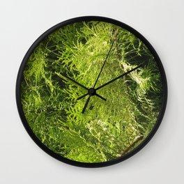 green bush Wall Clock
