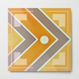 Fish - geometric square Metal Print