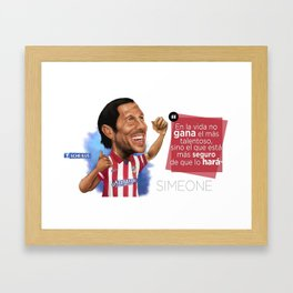 Cholo Simeone Framed Art Print