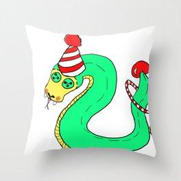 Stuffies Circus Snake Throw Pillow