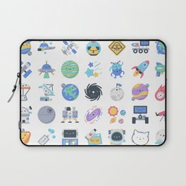 CUTE OUTER SPACE / SCIENCE / GALAXY PATTERN Laptop Sleeve