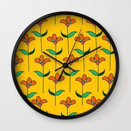 Genevieve - Yellow Wall Clock