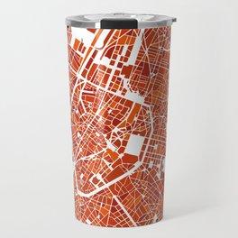 Brussels City Map III Travel Mug