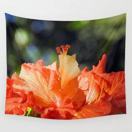 Flamingo Hibiscus Wall Tapestry