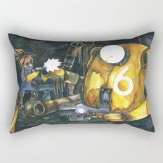 Moonbot #6: Yellow Rectangular Pillow
