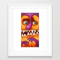 Orange Monster Framed Art Print