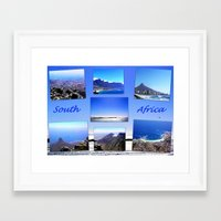 south africa Framed Art Prints featuring South Africa Landscape by Art-Motiva