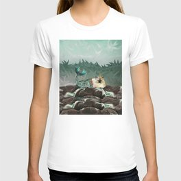 Behold the Mythical Merkitticorn - Mermaid Kitty Cat Unicorn T-shirt