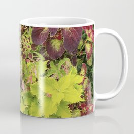 Foliage Fiesta With A Touch Of Begonia Coffee Mug