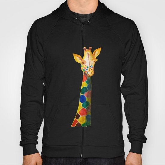 Giraffe Watercolor Print Hoody
