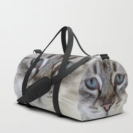 Cat with Blue Eyes Duffle Bag