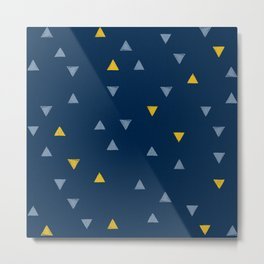 DOWN UP / midnight blue / denim / gold Metal Print