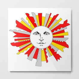 Space Sun Metal Print