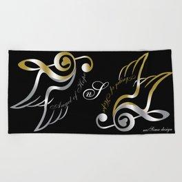Angel of Hope Wings Beach Towel