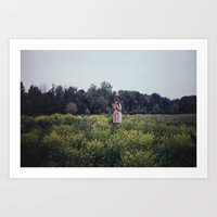 watermelon field Art Print