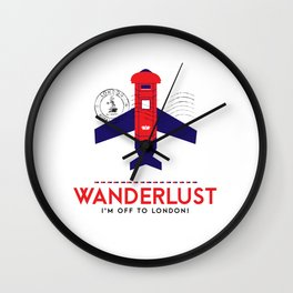 Royal Travel - London Wanderlust Wall Clock