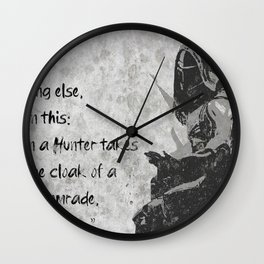 the vow of a hunter Wall Clock