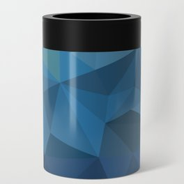 blue geometric Can Cooler