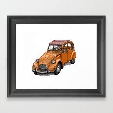 Orange 2CV Framed Art Print