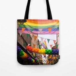 LGBT Pride Street Scene Tote Bag