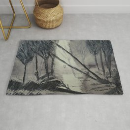 Mysterious forest Rug